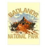 Parque nacional de los Badlands Tarjeta Postal