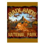 Parque nacional de los Badlands Tarjetas Postales