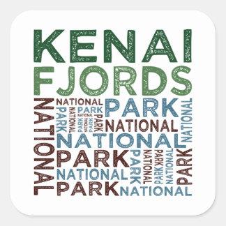 Parque nacional de los fiordos de Kenai Pegatina Cuadrada
