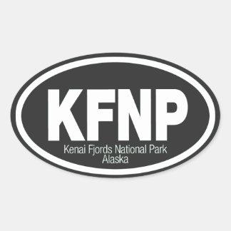Parque nacional de los fiordos de Kenai Pegatina Ovalada
