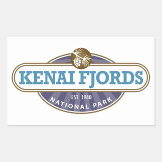 Parque nacional de los fiordos de Kenai Pegatina Rectangular