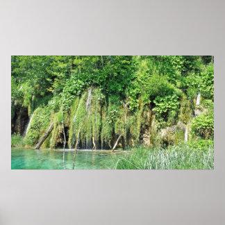 Parque nacional de los lagos Plitvice Posters