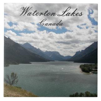 Parque nacional de los lagos Waterton Azulejo Cerámica