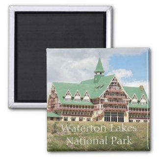 Parque nacional de los lagos Waterton Imán Cuadrado
