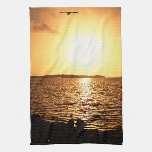 Parque nacional de los marismas toalla de mano