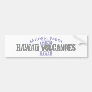 Parque nacional de los volcanes de Hawaii Pegatina De Parachoque