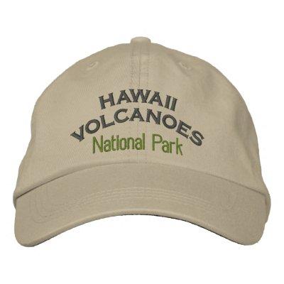 Parque nacional de los volcanes de Hawaii Gorro Bordado