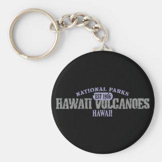 Parque nacional de los volcanes de Hawaii Llavero Redondo Tipo Pin