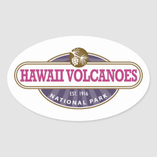 Parque nacional de los volcanes de Hawaii Pegatina Ovalada