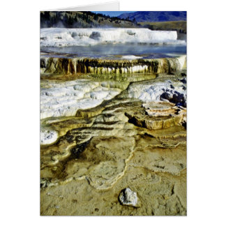 Parque nacional de Mammoth Hot Springs - de Yellow Felicitacion