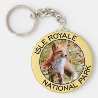Parque nacional de Royale de la isla Llaveros Personalizados