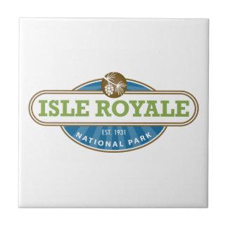 Parque nacional de Royale de la isla - Michigan Azulejo Cuadrado Pequeño