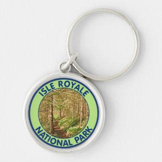 Parque nacional de Royale de la isla, Michigan Llavero Personalizado