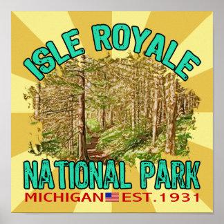 Parque nacional de Royale de la isla Michigan Impresiones