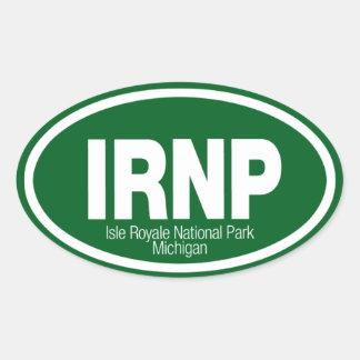 Parque nacional de Royale de la isla Pegatina Ovalada