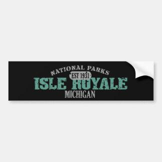 Parque nacional de Royale de la isla Pegatina Para Auto