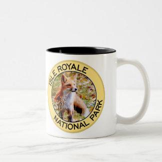 Parque nacional de Royale de la isla Tazas De Café