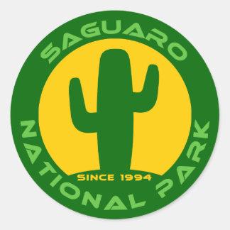 Parque nacional de Saguaro Pegatina Redonda