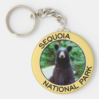 Parque nacional de secoya llavero redondo tipo pin