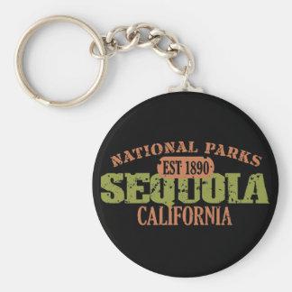 Parque nacional de secoya llavero personalizado