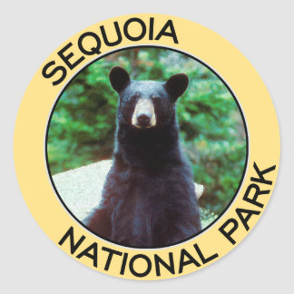Parque nacional de secoya pegatinas redondas