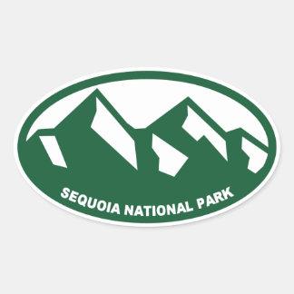 Parque nacional de secoya pegatina ovalada