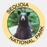 Parque nacional de secoya pegatina redonda