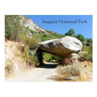 ¡Parque nacional de secoya/postal de la roca del t Postal
