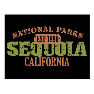 Parque nacional de secoya postales