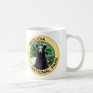 Parque nacional de secoya taza de café