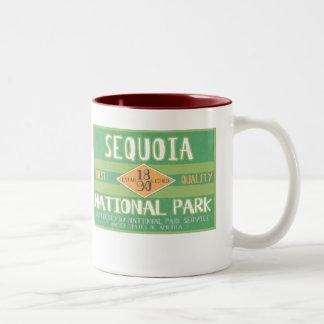 Parque nacional de secoya taza de dos tonos