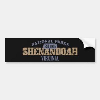 Parque nacional de Shenandoah Pegatina De Parachoque