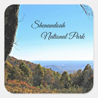 Parque nacional de Shenandoah Pegatina Cuadrada