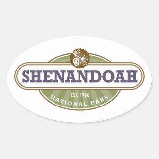 Parque nacional de Shenandoah Pegatina Ovalada