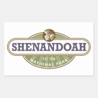 Parque nacional de Shenandoah Pegatina Rectangular