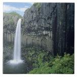 Parque nacional de Skaftafell, cascada de Svartifo Azulejos Cerámicos