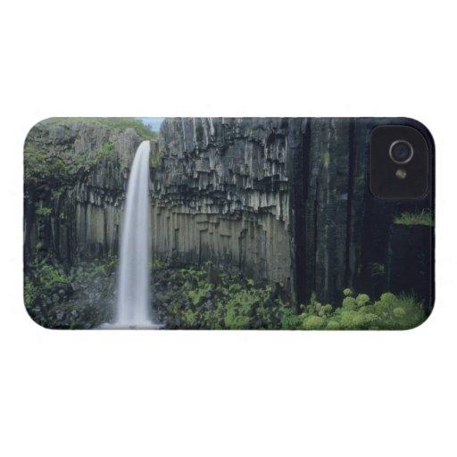 Parque nacional de Skaftafell, cascada de Svartifo iPhone 4 Case-Mate Protector