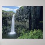 Parque nacional de Skaftafell, cascada de Svartifo Poster