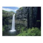 Parque nacional de Skaftafell, cascada de Svartifo Postal