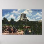 Parque nacional de Teton, WY - la torre del diablo Posters
