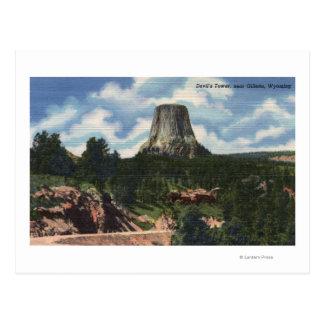 Parque nacional de Teton, WY - la torre del diablo Postal