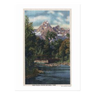 Parque nacional de Teton, WY - opinión gemela de Postales
