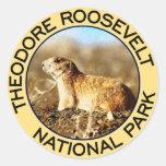Parque nacional de Theodore Roosevelt Pegatinas Redondas
