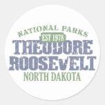 Parque nacional de Theodore Roosevelt Etiquetas Redondas