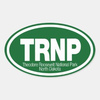 Parque nacional de Theodore Roosevelt Pegatina Ovalada