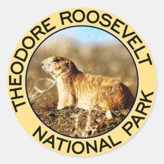 Parque nacional de Theodore Roosevelt Pegatina Redonda