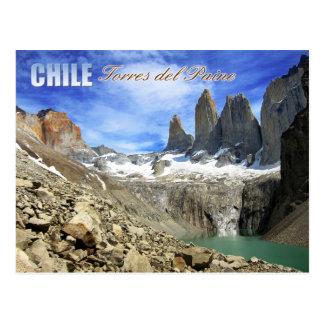 Parque nacional de Torres del Paine, Chile Tarjeta Postal