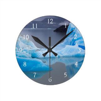 Parque nacional de Torres del Paine, hielo glacial Reloj Redondo Mediano