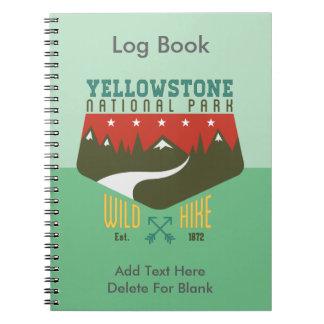 Parque nacional de Yellowstone Spiral Notebook