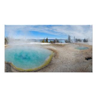 Parque nacional de Yellowstone de la caldera del o Fotografía